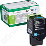 Extra High Capacity Lexmark C242XC0 Cyan Toner Cartridge (Return Program)
