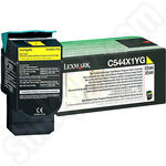 Extra High capacity Lexmark C544 Yellow Toner