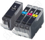 Compatible Four-pack of CLi-8 and PGi-5 ink cartridges
