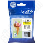 High Capacity Brother LC3213Y Yellow Ink Cartridge