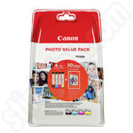 High Capacity Canon CLi-571 XL Ink Value Pack + 6x4 Photo Paper