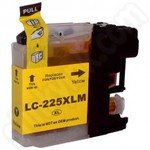 Compatible High Capacity Brother LC225 Yellow Ink Cartridge