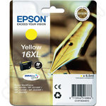 High Capacity Epson 16XL Yellow Ink Cartridge