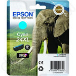 High Capacity Epson 24XL Cyan Ink Cartridge