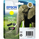 High Capacity Epson 24XL Yellow Ink Cartridge