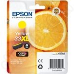 High Capacity Epson 33XL Yellow Ink Cartridge