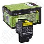 High Capacity Lexmark 702HY Yellow Toner Cartridge