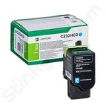 High Capacity Lexmark C232HC0 Cyan Toner Cartridge (Return Program)