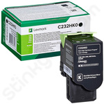 High Capacity Lexmark C232HK0 Black Toner Cartridge (Return Program)
