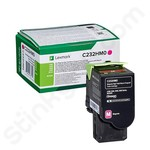 High Capacity Lexmark C232HM0 Magenta Toner Cartridge (Return Program)