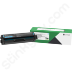 High Capacity Lexmark C332HC0 Cyan Toner Cartridge (Return Program)