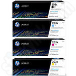 High Capacity Multipack of HP 203X Toner Cartridges
