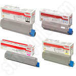 High Capacity Multipack of Oki 4649060 Toner Cartridges