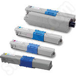 High Capacity Multipack of Oki 465087 Toner Cartridges