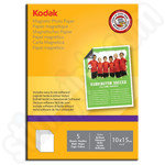 Kodak 6x4 Glossy Magnetic Photo Paper - 5 Sheets