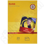 Kodak 6x4 Premium Glossy Photo Paper - 20 Sheets