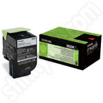 Low Use Lexmark 802K Black Toner Cartridge