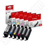 Multipack of High Capacity Canon PGI-570 & CLI-571 Ink Cartridges Including Grey Cartridge