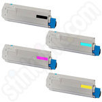Compatible Multipack of Oki 4386-4387 Toners