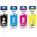 Multipack of Epson 102 Ecotank Ink Bottles
