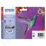Multipack of Epson T0807 Hummingbird Ink Cartridges