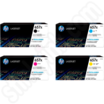 Multipack of Extra High Capacity HP 657X Toner Cartridges
