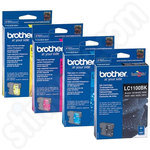 Multipack of High Capacity Brother LC1100 Inks
