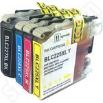 Compatible Multipack of High Capacity Brother LC227 & LC225 Ink Cartridges