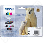 Multipack of High Capacity Epson 26 XL Ink Cartridges