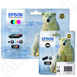 Multipack of High Capacity Epson 26 XL Ink Cartridges plus a Photo Black Cartidge