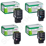 Multipack of High Capacity Lexmark C232H Toner Cartridges (Return Program)