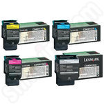 Multipack of High Capacity Lexmark C54x Toner Cartridges