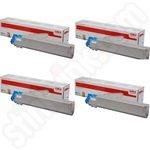 Multipack of High Capacity Oki 45536505-8 Toner Cartridges