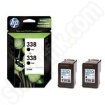 Multipack of HP 338 Black Ink Cartridges