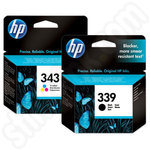 Multipack of HP 339 and 343 Ink Cartridges