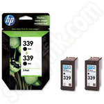 Multipack of HP 339 Black Ink Cartridges