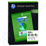 Multipack of HP 935XL Ink Cartridges and 75 Sheets of HP A4 Paper