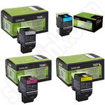 Multipack of Lexmark 702 Toner Cartridges