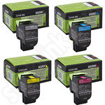 Multipack of Lexmark 802SK Toner Cartridges
