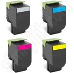 Multipack of Lexmark Extra High Capacity 802H Toner Cartridges