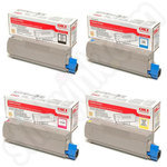 Multipack of Oki 43324424-1 Toner Cartridges