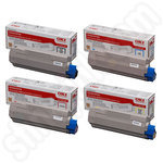 Multipack of Oki 4386-4387 Toner Cartridges
