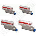 Multipack of Oki 4431530 Toner Cartridges