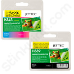 Refilled Multipack of HP 339 and 343 Ink Cartridges
