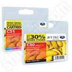Remanufactured Multipack of Canon PG-50 and CL-51 Ink Cartridges