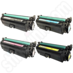 Remanufactured Multipack of HP 654 Toner Cartridges