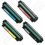 Remanufactured Multipack of HP CE270-3 Toner Cartridges