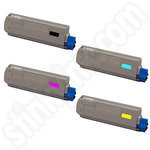 Remanufactured Multipack of Oki 4431530 Toner Cartridges