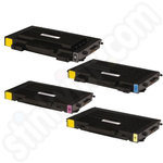 Remanufactured Multipack of Samsung CLP-510 Toners