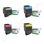 Multipack of Ultra High Capacity Lexmark 71B2H-X Toner Cartridges